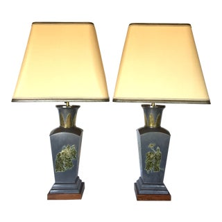 1960s Vintage Hollywood Regency Chinoiserie Lamps - a Pair For Sale
