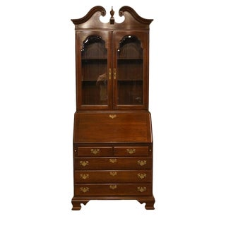 20th Century Georgian Ethan Allen Court Drop Front Secretary Desk
