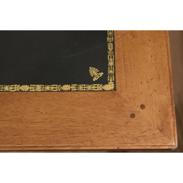 Louis XVI Style Green Leather Top Writing Desk For Sale - Image 10 of 13