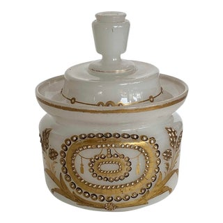 French Opaline Glass Lidded Dish For Sale