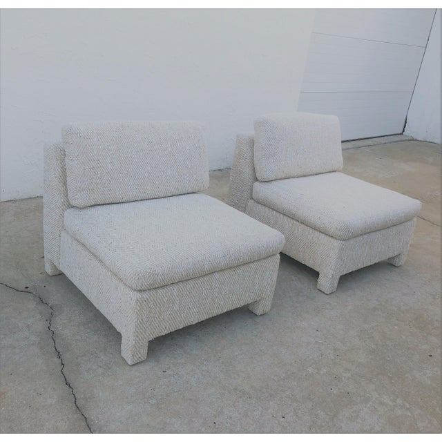 Note: 1 Pair Is on a 5-Day Hold ---Slipper Chairs by Milo Baughman for Thayer Coggin 1979 - a Pair For Sale - Image 12 of 13