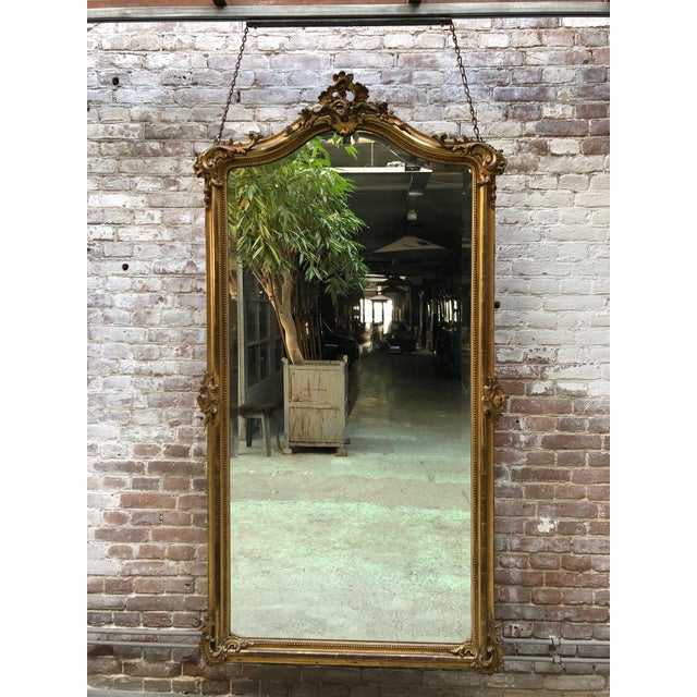 Wood French 19th Century Mirror Style Louis XV For Sale - Image 7 of 7