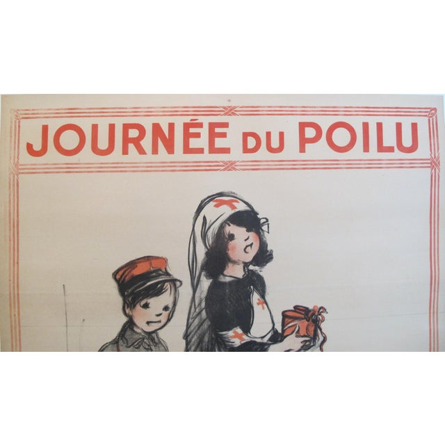 Date: 1915 Size: 31.5 x 47.5 inches Artist: Poulbot About The Poster: This striking poster was produced for the Journée du...
