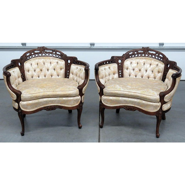 Louis XV Style Marquis Chairs - a Pair For Sale - Image 12 of 12