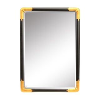 Large Black and Gold Mirror by LaBarge For Sale