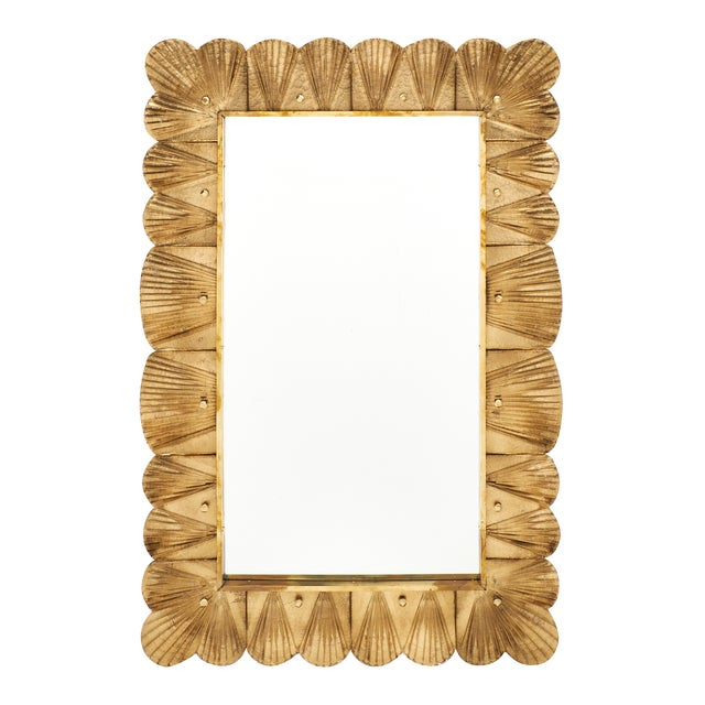 Murano Glass Gold Leaf Mirror For Sale - Image 11 of 11
