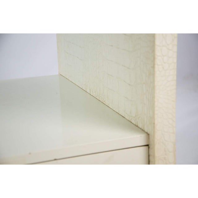 Karl Springer Albino Python Glass Top Side Table For Sale - Image 9 of 13