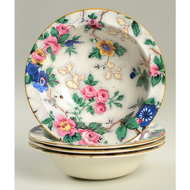 Crown Ducal Ascot Rim Small Bowl - Set of 4 For Sale - Image 9 of 9