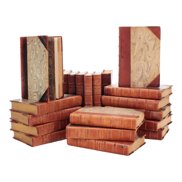 """Leather Books, """"Works of George Meredith"""" From 1912, Set of 20 For Sale"""
