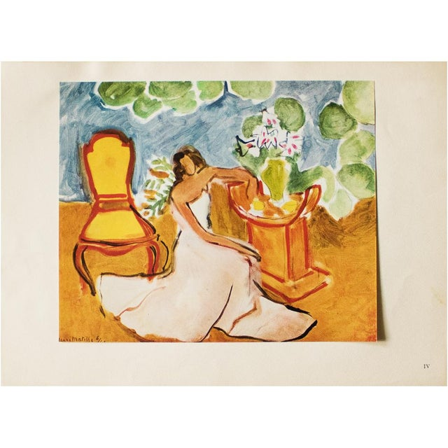"""Brown 1946 Henri Matisse, """"Girl in the White Dress"""" Original Parisian Period Lithograph For Sale - Image 8 of 8"""