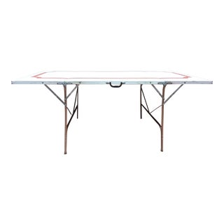 Mid 20th Century Metal Folding Suitcase Table For Sale