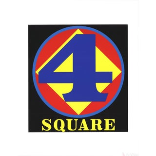 Robert Indiana, Polygon: Square (Four), 1997 Serigraph
