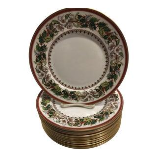 Spode Christmas Rose Dessert Plates - Set of 12 For Sale