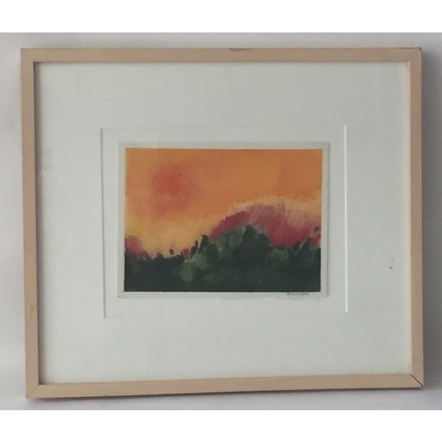 Modernist Abstract Landscape by Hamilton - Image 2 of 6