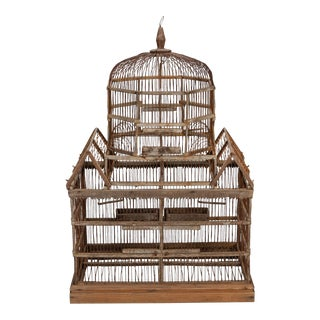 19th Century Wooden Bird Cage For Sale