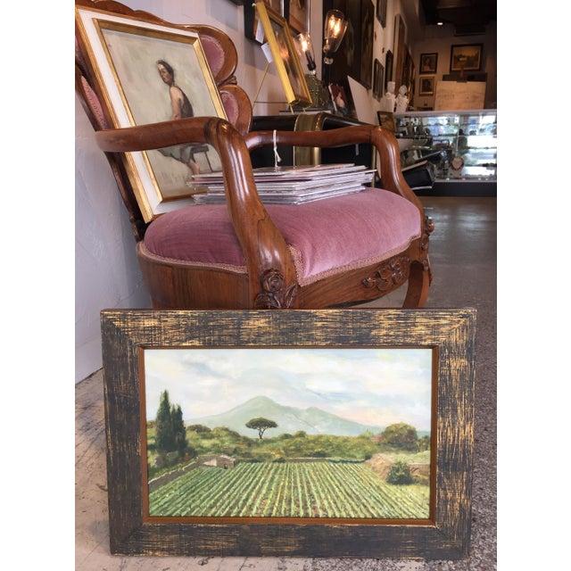 "Barbara Icyda Icyda Contemporary Framed Landscape ""View From Mount Vesuvius"" For Sale - Image 4 of 6"