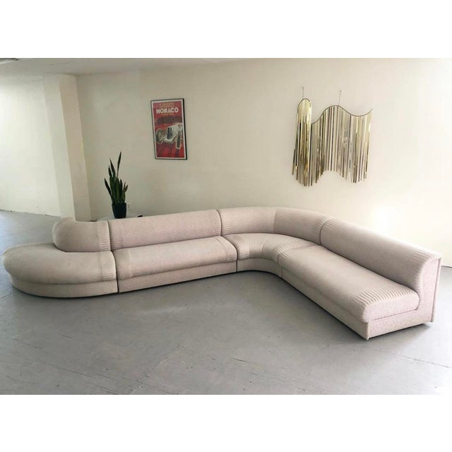"""1980s Post Modern Italian """"Serpentine"""" Modular Sectional Sofa by Casa Bella For Sale - Image 5 of 5"""