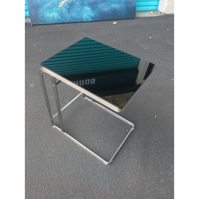 Contemporary HD Buttercup Steel & Glass Side Table For Sale - Image 3 of 9