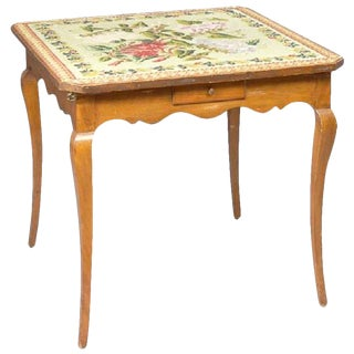 19th Century French Provincial Fruitwood Games Table For Sale