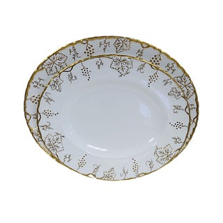 Crown Derby Gilded Vine Platters, S/2 For Sale