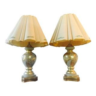 Mid-Century Hollywood Regency Gilt Lamps - A pair