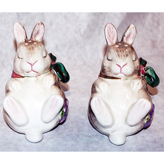 Fitz and Floyd Bunny Rabbit Shakers - Set of 4 - Image 6 of 11