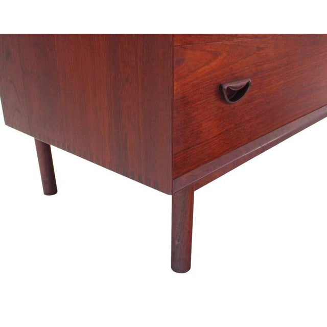 Early 20th Century Piter Hvidt Solid Teak Concealed Vanity Mirror Chest For Sale - Image 5 of 9