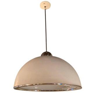 1960s Mid-Century Modern Diffused Dome Pendant Light
