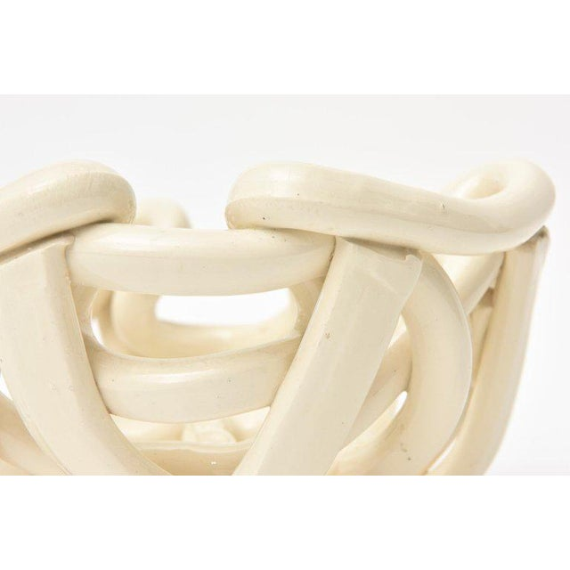 Ceramic Twisted Coiled Ceramic Sculptural Bowl For Sale - Image 7 of 11