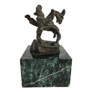 Mid-Century Brutalist Bronze Sculpture