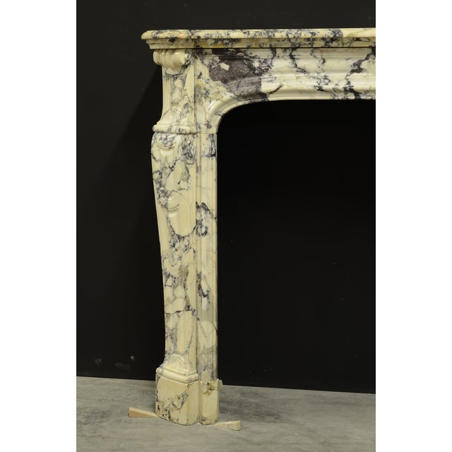 Gold Paonazetto Pompadour Fireplace Mantel For Sale - Image 8 of 12