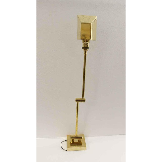 Brass Articulating Arm Brass Wall Sconce For Sale - Image 8 of 9
