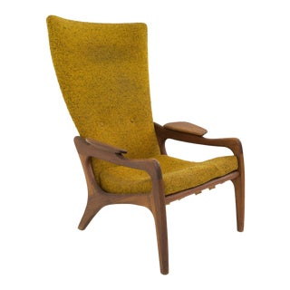 Mid Century Modern Adrian Pearsall for Craft & Associates Wingback Chair For Sale