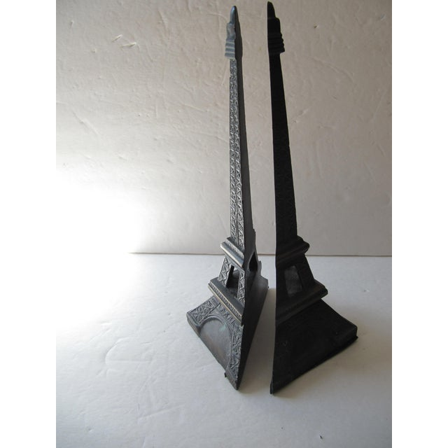 2000s Eiffel Tower Bookends For Sale - Image 5 of 6