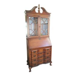 Vintage Maddox Table Mahogany Secretary Desk For Sale