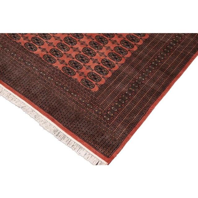 Traditional Bokara Arya Leon Rose & Black Wool Rug - 9'4 X 11'11 For Sale - Image 3 of 9