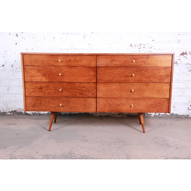 Contemporary Paul McCobb Planner Group Mid-Century Modern Long Dresser or Credenza, Newly Restored For Sale - Image 3 of 13