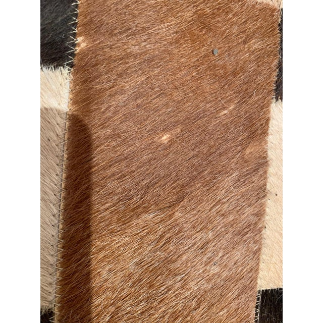 Contemporary Geometric Patchwork Cowhide Area Rug For Sale - Image 3 of 13