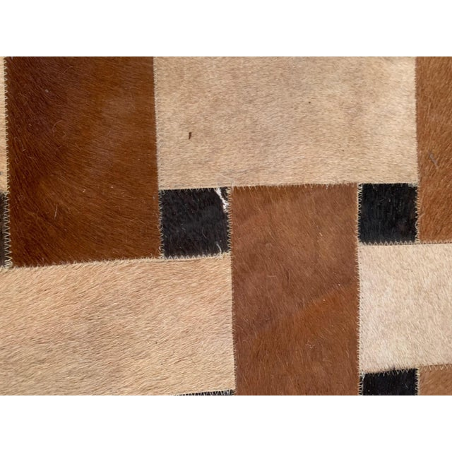 2000 - 2009 Geometric Patchwork Cowhide Area Rug For Sale - Image 5 of 13