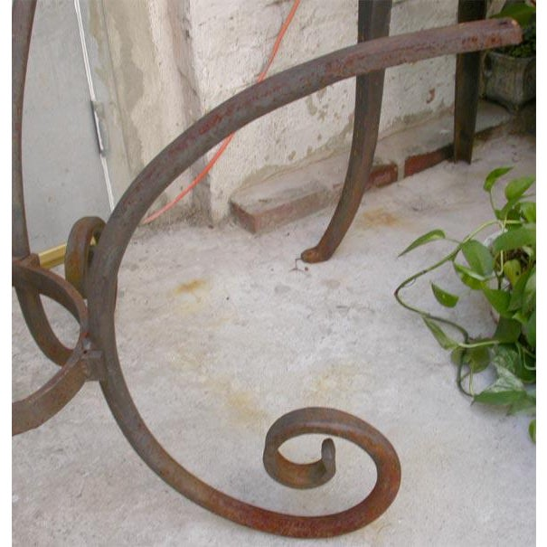 French Wrought Iron Oval Table Base - Image 6 of 7