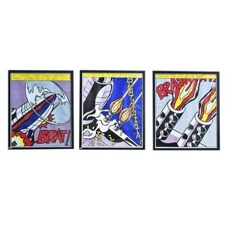 Set of 3 Lithograph Prints by Roy Lichtenstein, For Sale