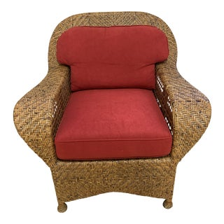 Late 20th Century Fong Brothers Co Manila Rattan Club Chair For Sale