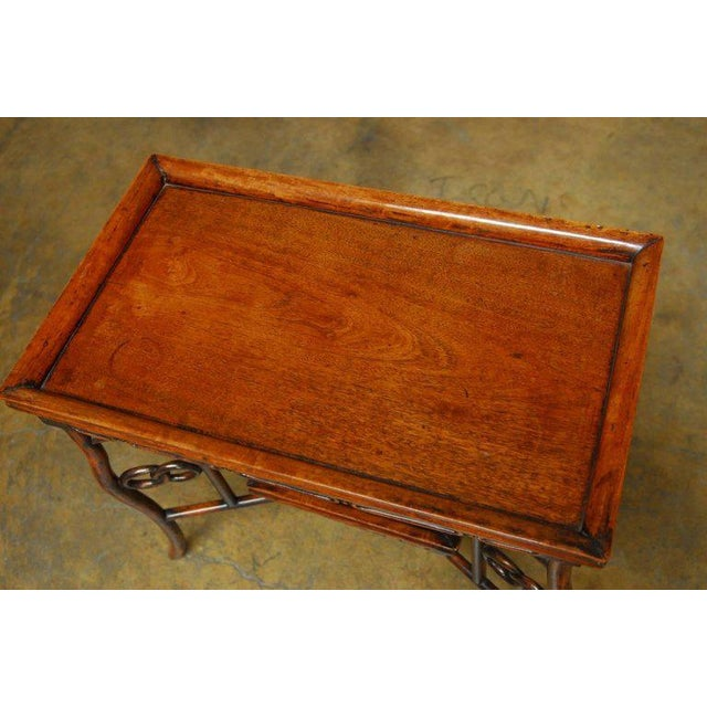Chinese Qing Rosewood Folding Tray Table For Sale - Image 4 of 10
