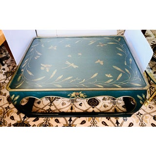 Chinoiserie Green and Gold Painted Coffee Table Preview