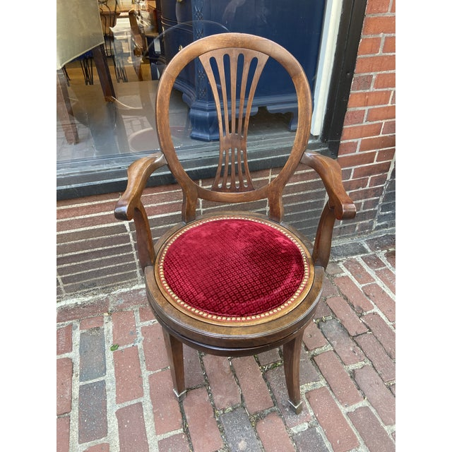 Brown Late 18th Century French Directoire Swivel Desk Chair For Sale - Image 8 of 8