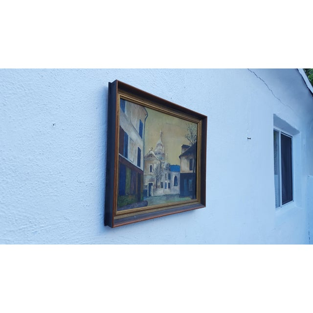 1964 Rodger Moprisk Rural Street Scene Oil Painting - Image 3 of 9