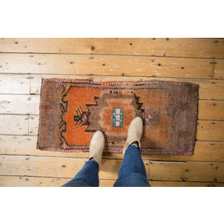 "Vintage Distressed Oushak Rug Mat Runner - 1'7"" X 3'5"" Preview"