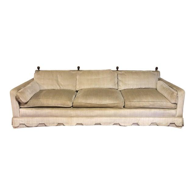 1960's Vintage Henredon Hollywood Regency Sofa For Sale