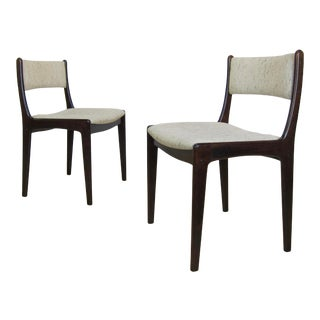 1970s Danish Modern Rosewood Dining Chairs by Vamdrup StoleFabrik - a Pair For Sale