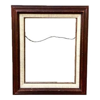 Vintage Wood & Linen Frame
